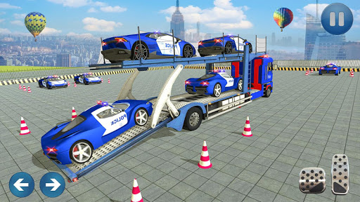 Police Car Transporter 3d: City Truck Driving Game 3.0 screenshots 8
