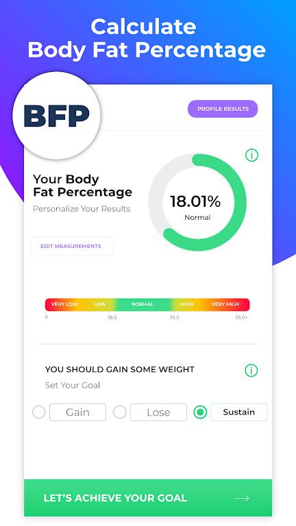 BMI Calculator: Body Fat Percentage & Ideal Weight  poster 11