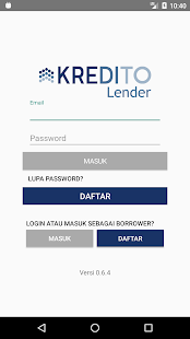 Kredito for Lenders Screenshot