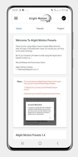 Alight Motion Presets 1.9 Screenshots 2