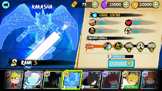 Stickman Ninja Fight – Shinobi Epic Battle Mod Apk 2.5 (A Large Number of Diamonds) 4