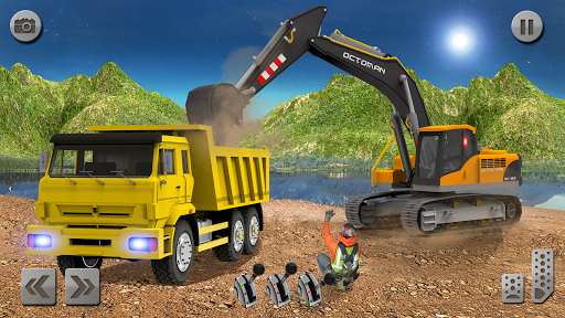 Sand Excavator Truck Driving Rescue Simulator game screenshots 23