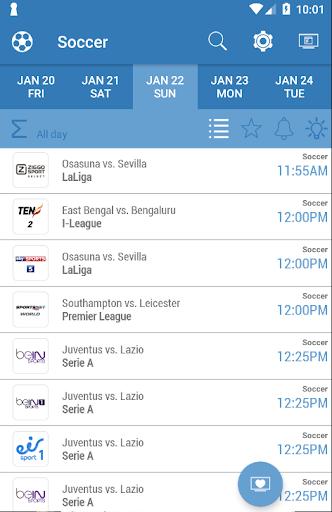 Live Sports TV Listings Guide 2.92 Screenshots 1