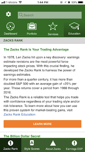 Foto do Zacks Stock Research