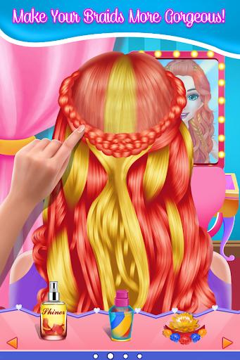Fashion Braid Hairstyles Salon-girls games apkdebit screenshots 2