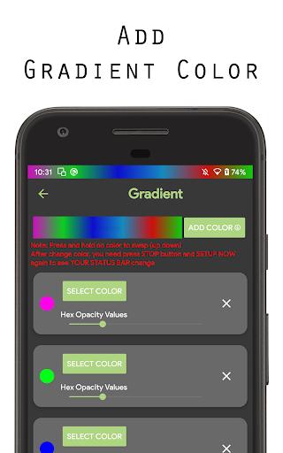 Color status bar - Customized Color & Wallpaper 47 screenshots 16