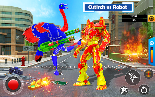 Flying Ostrich Robot Transform Bike Robot Games 38 screenshots 5