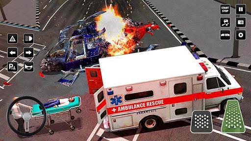 Heli Ambulance Simulator 2020: 3D Flying car games  screenshots 8