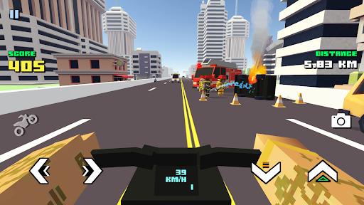 Blocky Moto Racing ud83cudfc1 - motorcycle rider  Screenshots 4