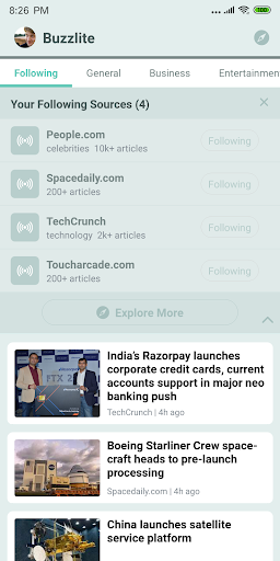 Buzzlite - News Feed for Anything You Care. 1.1.1 Screenshots 3