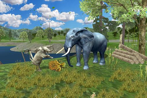 Wild Elephant Family Simulator apkpoly screenshots 1