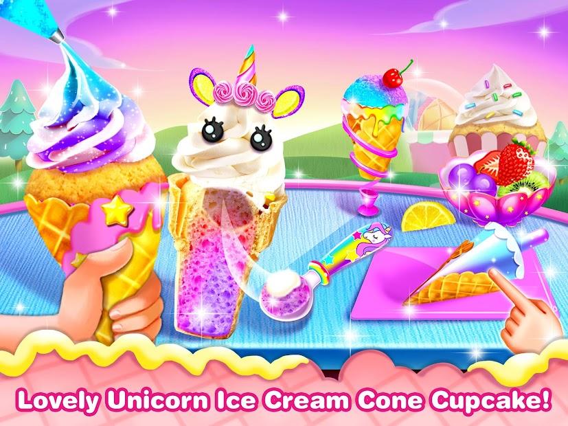 Ice Cream Cone Cupcake-Cupcake Mania Android App Screenshot