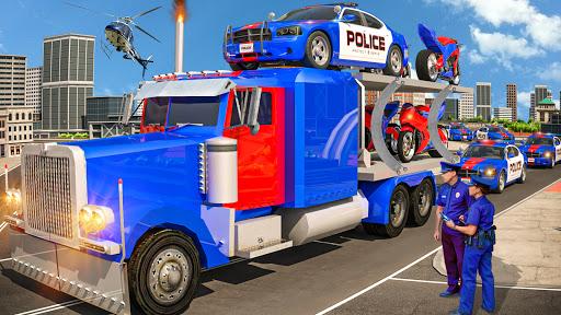 US Police Multi Level Car Transporter Truck 2020  screenshots 1