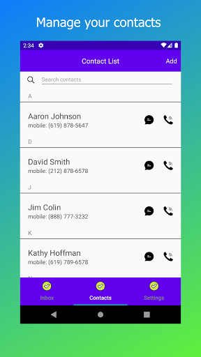 My Second Line: Free Phone Number for Text & Call screenshots 5