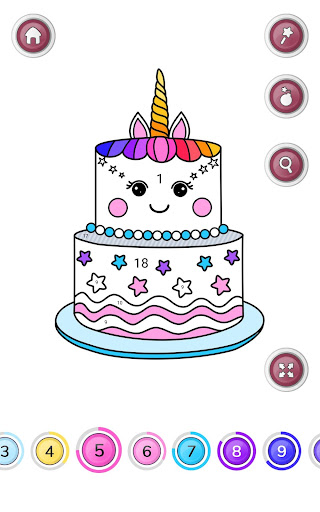 Girls Coloring Book - Color by Number for Girls 2.3.0.0 screenshots 5