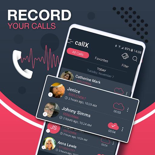 Call Recorder - Automatic Call Recorder - callX apktram screenshots 1