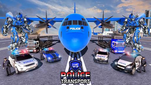 US Police Robot Transform - Police Plane Transport  screenshots 7