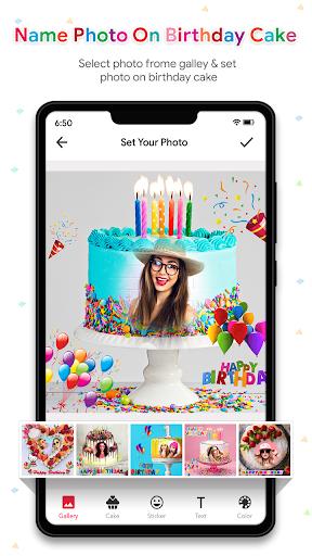 Name Photo On Birthday Cake - Birthday Photo Frame  screenshots 2