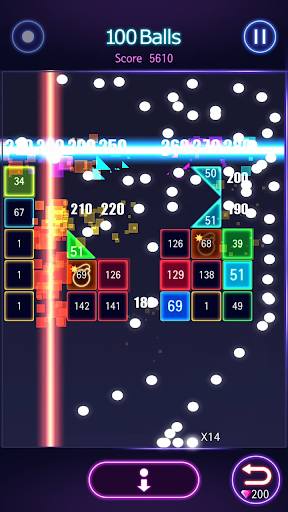 Bricks Breaker Hit - Glow Balls  screenshots 17